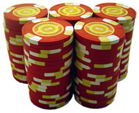 Stack of 100 InPlay Clay Poker Chips