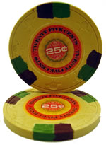 25 cent InPlay Clay poker chip