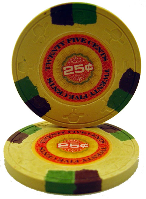 25 cent inplay clay poker chip - Clay Poker Chips