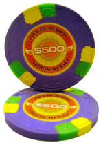 $500 InPlay Clay poker chip