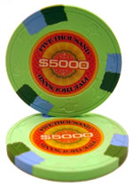 $5000 InPlay Clay poker chip