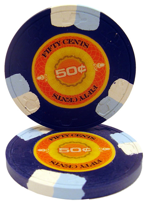 50 cent inplay clay poker chip - Clay Poker Chips