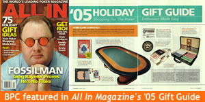 All In Magazine recommends BuyPokerChips.com for Holiday Poker Gifts