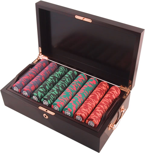 World Poker Tour Chip Set Wood Case