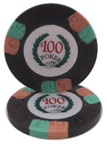 $100 Modern Clay Poker Chip