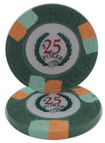 $25 Modern Clay Poker Chip