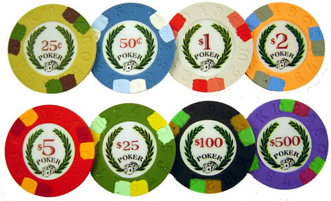 Clay coin casino poker chips jackpot party video game no casino
