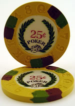 25 Cent Modern Clay Poker Chip