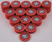 Stack of 100 Archetype Casino Chips
