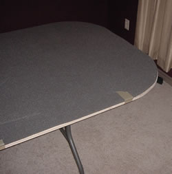 padded poker table foam