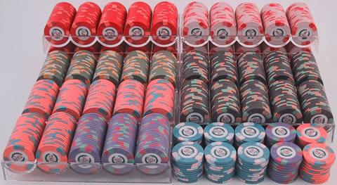 Professional casino poker chips gambling workplace