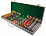 500-Chip Aluminum Poker Chip Case