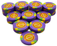 Stack of 50 InPlay Clay Poker Chips