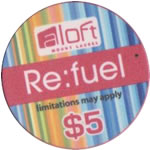 W Hotels aLoft Hotel Poker Chips
