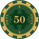 Monogramed Poker Chips