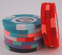 10-Chip Modern Clay Poker Chip Sample