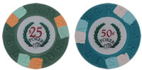 2 Modern Clay Poker Chip Sample